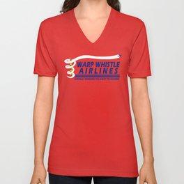 Warp Whistle Airlines Unisex V-Neck
