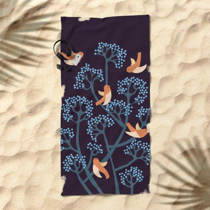 Birds Are singing Beach Towel