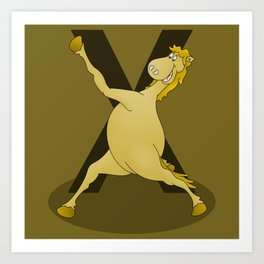 Monogram X Pony Art Print