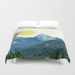 Moving Mountains Duvet Cover
