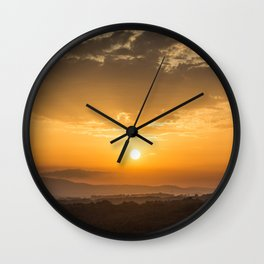 Sunset in Tuscany Wall Clock