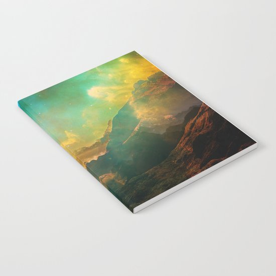 Vibrant Space Hiker Notebook