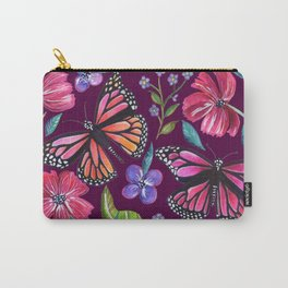 Butterflies on Purple Carry-All Pouch