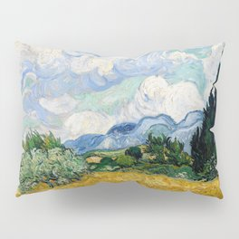 Wheat Field with Cypresses Pillow Sham