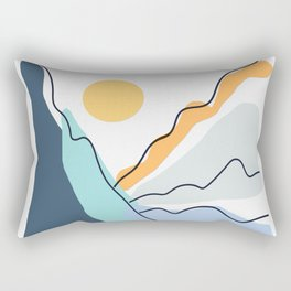 Minimalistic Landscape II Rectangular Pillow
