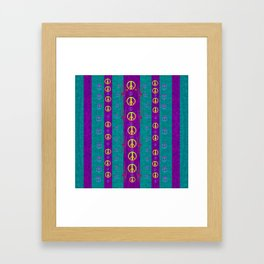 Peace be with us in this wonderful year in true love Framed Art Print