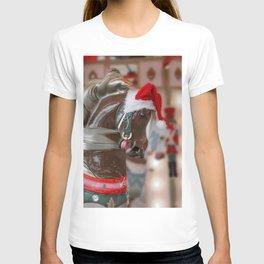Santa Horse 6 - Retro T-shirt