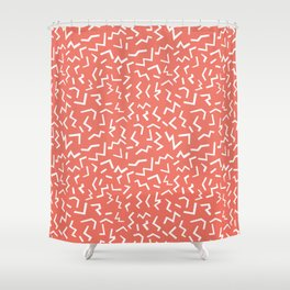 memphis zig zag modern minimal abstract pattern trendy gifts Shower Curtain
