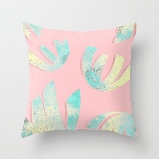 flora pattern no.1 / bright  Throw Pillow
