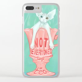 Not Everyone's Cup Of Tea - Sphynx Cat - Part 3 Clear iPhone Case