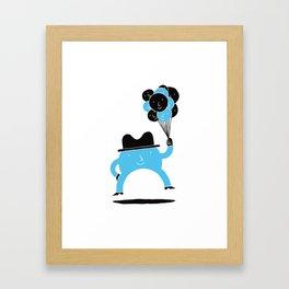 Blue-Boy Balloon Framed Art Print