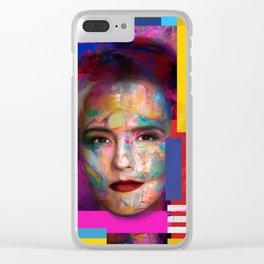 Paradise color Clear iPhone Case