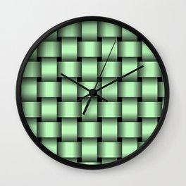 Large Light Green Weave Wall Clock