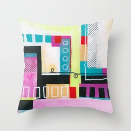 Determined Direction Throw Pillow