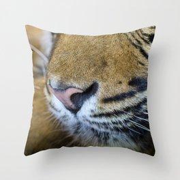 Tiger nose Throw Pillow