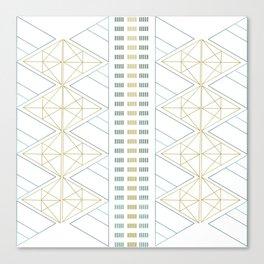 Gold Aqua Geometric Pattern 1.0 Canvas Print