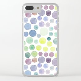 Dots purple and green Clear iPhone Case