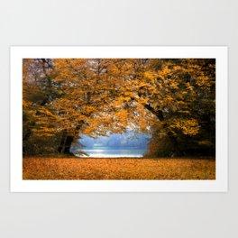 Autumn in Denmark Art Print