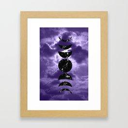 Marbled Moon Phases #3 #decor #art #society6 Framed Art Print
