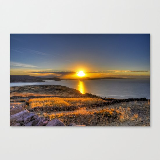 A Titicaca Sunset Canvas Print