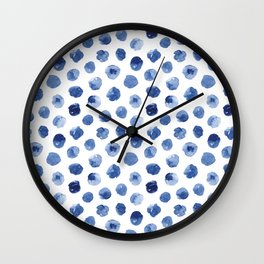 Watercolor Polka Dot Wall Clock