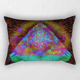 Green Pyramid Landing Rectangular Pillow