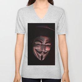 Guy Fawkes Poly Shadow Mask Unisex V-Neck