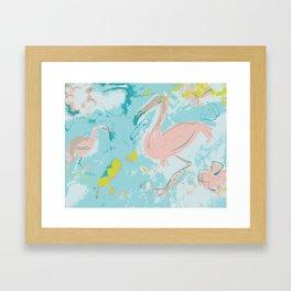 Dreaming flamingoes Framed Art Print