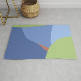 Blue and green pie Rug