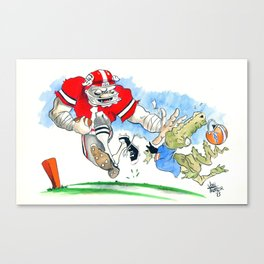 Dawg Rush Canvas Print