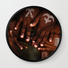 Hands symbol Wall Clock