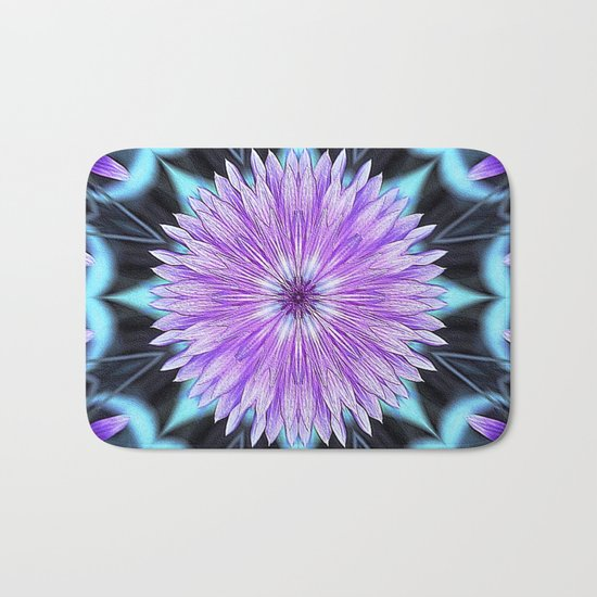 Floral Kaleidoscope Bath Mat