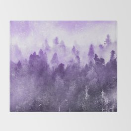 Ultra Violet Adventure Forest Throw Blanket