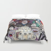 tim shumate Duvet Covers featuring TIM BURTON TEA PARTY by VINCE