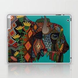 bison teal Laptop & iPad Skin