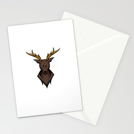 Angry Deer Sport Esport Logo Template With Long Horn Stationery Cards