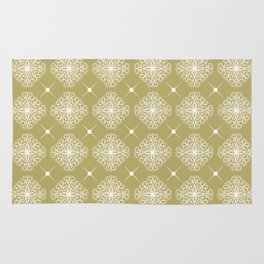 abstract floral pattern Rug