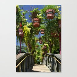 Flower Clad Footbridge Canvas Print