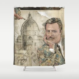 Marcello and Sophia Shower Curtain