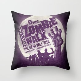 Zombie Walk Throw Pillow