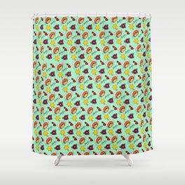 Hammy Pattern in Mint Green Shower Curtain