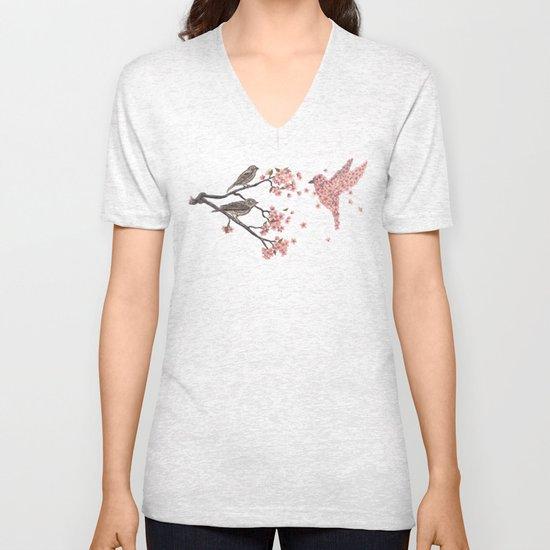 Blossom Bird  Unisex V-Neck