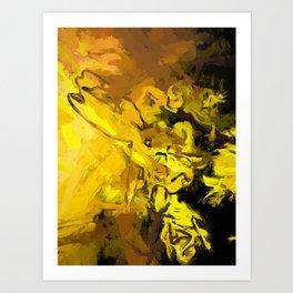 Yellow Lily Golden Light Flower Maelstrom Art Print