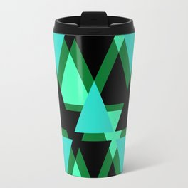 Abstract pattern . The green triangles . Travel Mug