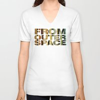 outer space V-neck T-shirts featuring from outer space by sustici