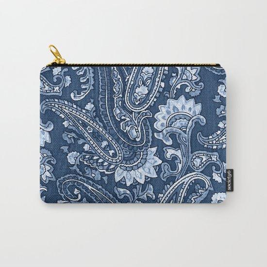 Blue indigo paisley Carry-All Pouch
