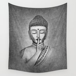 Shh... Do not disturb - Buddha Wall Tapestry