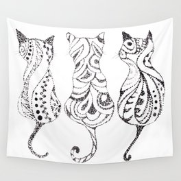 Trio of Cats Wall Tapestry