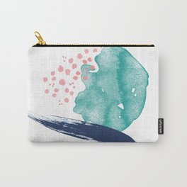 Coral and Sea Foam Carry-All Pouch