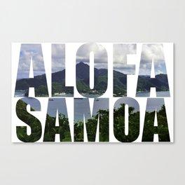 Alofa Samoa Canvas Print
